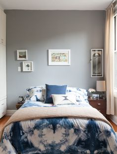 Paint colors that match this Apartment Therapy photo: SW 9179 Anchors Aweigh, SW 2739 Charcoal Blue, SW 6058 Likeable Sand, SW 7669 Summit Gray, SW 7021 Simple White