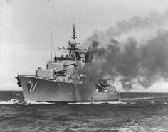 HMAS Vampire was the third of three Australian built Daring-class destroyers serving in the Royal Australian Navy (RAN) Naval History, Military History, Royal Navy, Us Navy, Navy Times, Navy Coast Guard, Australian Defence Force, Royal Australian Navy, Military Diorama