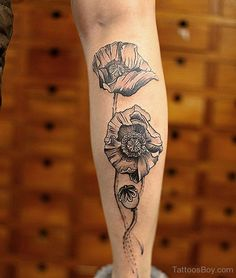 ... arm tattoos flower tattoos poppy tattoo poppy flower tattoo on arm
