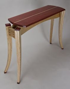 Paduak Top Table with Ash Base