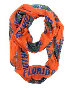 Look at this Florida Gators Sheer Infinity Scarf on #zulily today!