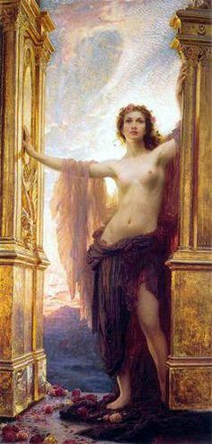 Herbert Draper, British, 1864 - 1920, The Gates of Dawn- love this