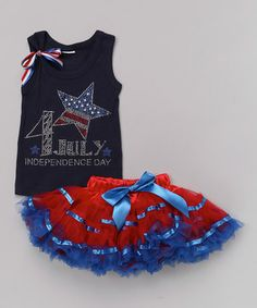 This Black 'Independence Day' Tank & Tutu - Infant, Toddler & Girls by So Girly & Twirly is perfect! #zulilyfinds