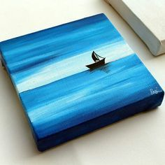 Just applied a final coat of glossy varnish on this lovely mini canvas painting! Mini