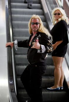 Duane Chapman (aka Dog the Bounty Hunter) is spotted preparing for departure out of Los Angeles International airport with his wife, Beth Chapman.
