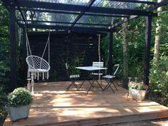 Back Gardens, Small Gardens, Garden Oasis, Home And Garden, Patio Design, Garden Design, Backyard Shade, Outdoor Living, Outdoor Decor