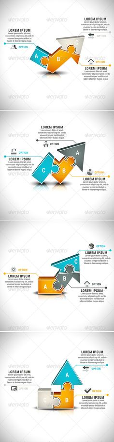 4 Business Infographics Vector Template #eps #present Download: http://graphicriver.net/item/4-business-infographics/8434107?ref=ksioks