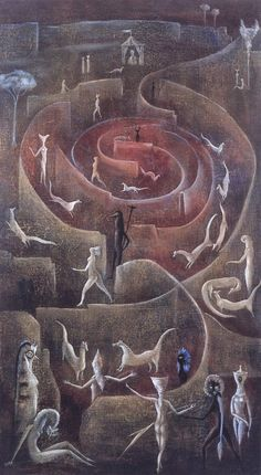 Leonora Carrington OBE was an English-born Mexican artist, surrealist painter, and novelist. She lived most of her adult life in Mexico City, and was one of the last surviving participants in the Surrealist movement of the 1930s.