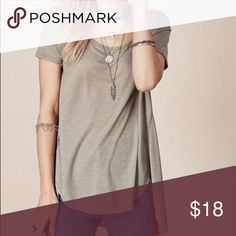 Olive Tulip Hem Tee This is the softest t-shirt you will ever own! Flowy with a tulip hem. Available S-M, runs slightly big. NWT Tops Tees - Short Sleeve