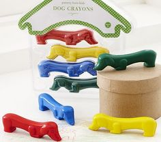 dachshund crayons....must own! My classroom will not be complete till I have one of these little guys!