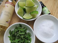 homemade minty foot scrub