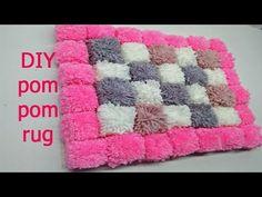 DIY Pom Pom Rug Easy Easy I Using My Hands I พรมเช็ดเท้า กิ๊บเก๋ และง่าย - YouTube Pom Poms, Diy Pom Pom Rug, Crochet Baby Beanie, Crochet Beanie Pattern, Crochet Hats, Yarn Crafts, Diy And Crafts, Stitch Crochet, Crochet Bowl