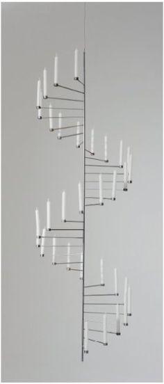 Poul Kjaerholm - Chandelier, 1956. Chandeliers, Chandelier Lighting, Nordic Design, Scandinavian Design, Interior Lighting, Lighting Design, Funky Furniture, Furniture Design, Poul Kjaerholm