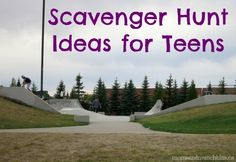 Birthday party activities for teens teenagers scavenger hunts 62 Trendy ideas