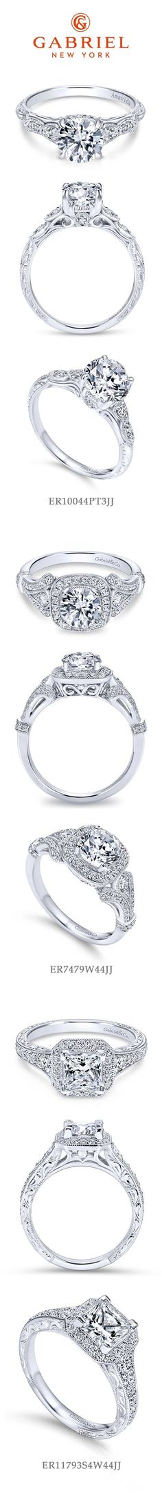 Gabriel NY - Preferred Fine Jewelry and Bridal Brand. Our top 3 Vintage Engagement Rings. Varying from round, princess, halo, etc! Find more our beautiful engagement rings for your loved one by checking out your nearest retailer-> https://www.gabrielny.com/storelocator