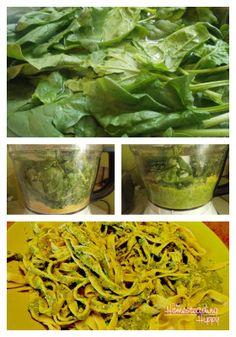 spinach pesto collage