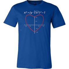 Valentine s Day Love Heart Equation Math T-shirt