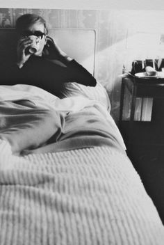 Andy Warhol in bed