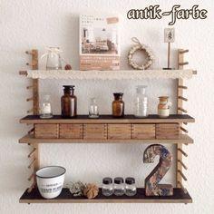 セリアのディッシュスタンド棚に飾ったもの④ の画像|+ antique style × interior +