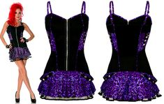 Jawbreaker Clothing Leo Gothic Purple Cocktail Dress £32.00 From PUNKTRASH