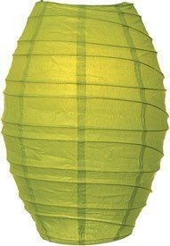 Chartreuse Green 10 Inch Cocoon Paper Lantern by Luna Bazaar. $4.95. Freestyle bamboo ribbing. 14 inches high x 10 inches diameter.