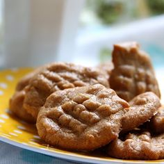 Two ingredient almond butter cookies! Delish!
