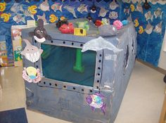 My classroom during our ocean unit
