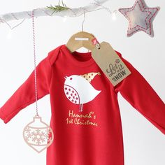 Ice ice baby penguin romper jack spratt baby christmas personalised robin first christmas romper funky baby clothesbabies negle Choice Image