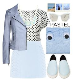 """Pastel Blue"" by enola123 ❤ liked on Polyvore featuring Dolce&Gabbana, Jane Norman, Cutie, ESPRIT, Topshop, Prism and Polaroid"