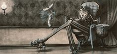 """""""The Spider and the Fly"""" by Tony DiTerlizzi Limited edition giclée prints available at the R. Michelson Galleries"""