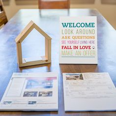 Use the Listing Welcome Sign as a sweet way to welcome potential buyers to your listing. - 8 x 10 - Printed on PVC, lightweight, yet strong - Stands on it's own