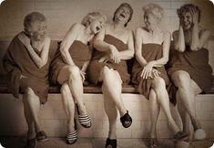Amateur mature females at sauna