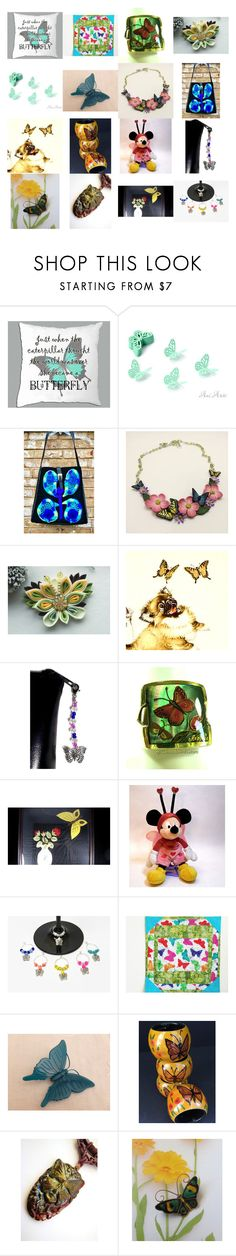 """She Became a Butterfly"" by kateduvall ❤ liked on Polyvore featuring beauty, Farfalla, kitchen and vintage"
