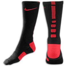 los calcetines negra, roja
