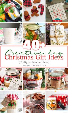 Handmade gifts are not only more inexpensive but also a lot more meaningful. Check out these Creative DIY Christmas Gift Ideas for a boost of inspiration. Last Minute Christmas Gifts, Christmas Gift For You, Handmade Christmas Gifts, Christmas Crafts For Kids, Christmas Diy, Holiday Crafts, Christmas Ornaments, Homemade Brownie Mix, Homemade Hot Chocolate