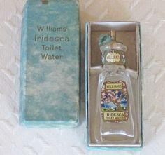 Antique William's Iridesca Toilet Water Bottle and by KISoriginals, $59.00