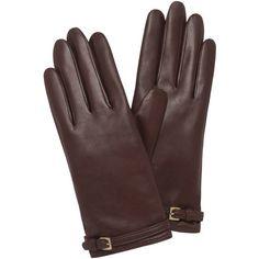 Buckle Strap Glove Oxblood Nappa Leather