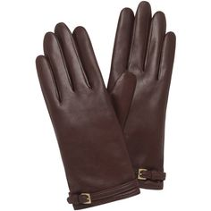 Buckle Strap Glove Oxblood Nappa Leather