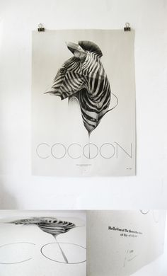 COCOON / Limited Edition Exhibition Print / by Von , via Behance