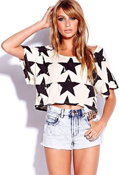 Star-Spangled Cropped Top. © Forever 21. Not sure hm.
