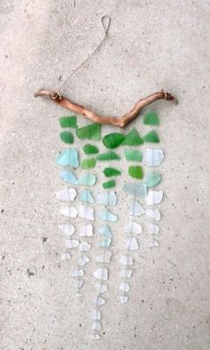 Seaglass Windchime. Would love to make this! Love the colors.