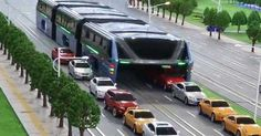 A mock-up of the Chinese straddling bus was unveiled in Qinhuangdao city. The bus can carry up to 300 passengers at a time, and does not disrupt…