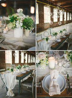 Neutral Wedding Inspiration In A Glass Factory - Weddbook