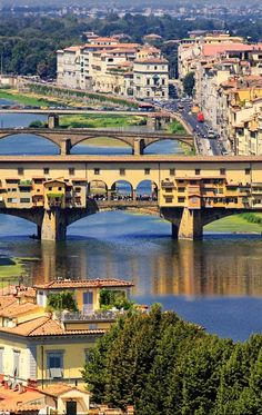 Ponte Vecchio, FLORENCE, ITALY. I've been on that bridge..it's very cool; you forget you're on a bridge because of all the little shops along the bridge, and so many pedestrians walking all over it!