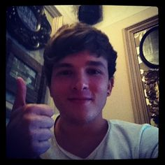 It seems like every picture there is, he's doing a thumbs-up...