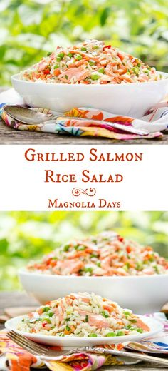 Grilled Salmon Rice