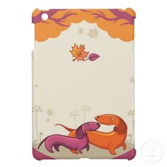 Dachshund Couple-Org/Pur iPad Mini Case