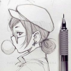 Girl Drawing Sketches, Art Drawings Sketches Simple, Pencil Art Drawings, Manga Drawing, Easy Drawings, Learn Drawing, Simple Cute Drawings, Creative Sketches, Simple Drawings For Beginners