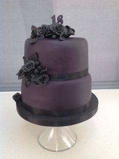 Gothic Chic Birthday Cake. Never done a cake like it but i think it has an elegance about it