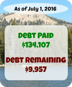 Every month we make our personal finances public by sharing what we earn, spend, and pay in debt. Here's our report for June 2016!  I still can't wrap my mind around this!